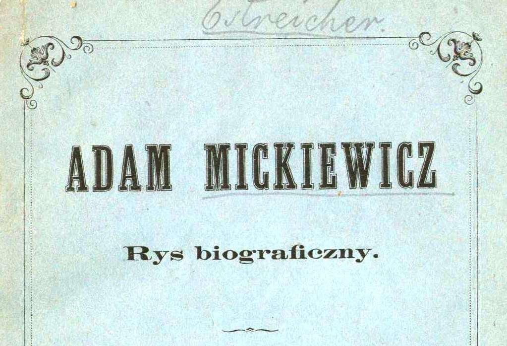 Adam Bernard Mickiewicz 1798 1855 Poeta